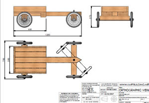 CAD images of wooden go-kart.