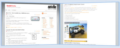 SolidWorks Blog website screenshot